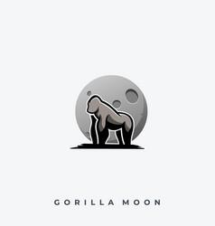 gorilla moon template vector image