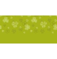 green clover textile texture horizontal border vector image