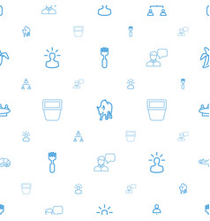 group icons pattern seamless white background vector image