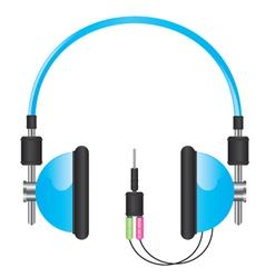 Headphones blue vector image