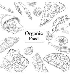 Healthy and Hearty Breakfast Organic restaurant vector
