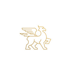 icon mythical griffin hand drawn vector image