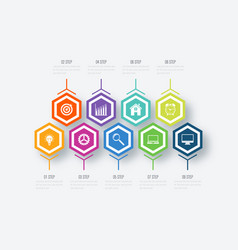 infographics nine options vector image