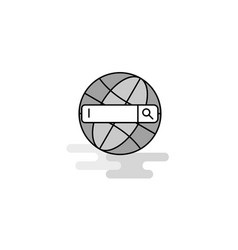 internet search web icon flat line filled gray vector image