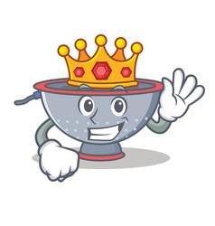 King colander utensil character cartoon vector
