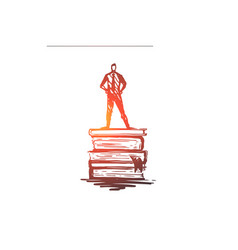 knowledge book education information learn vector image