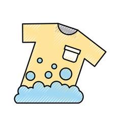 Laundry garments washing icon vector