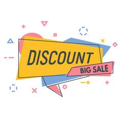 Line discount banner vector