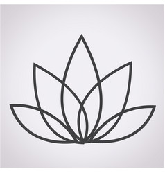 lotus icon vector image