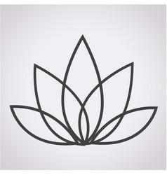 Lotus icon vector