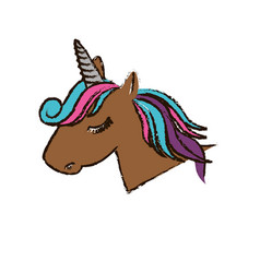 Magical unicorn icon vector