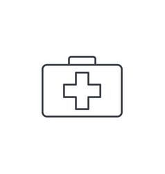 medicine chest thin line icon linear vector image