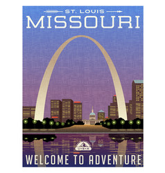 missouri travel poster vector image