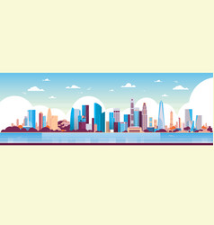 modern city skyscraper panorama view cityscape vector image
