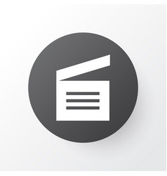 Movie clap icon symbol premium quality isolated vector