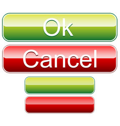 ok cancel buttons with blank versions vector image