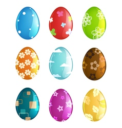Painted Easter eggs set vector image vector image