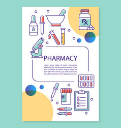 Pharmaceutical industry poster template layout vector