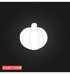 Pumpkin flat icon vector