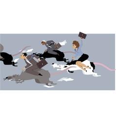 Rat race vector