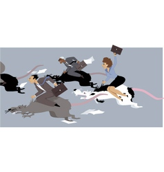 Rat race vector image