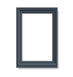 realistic dual black frame flat and shadow theme vector image