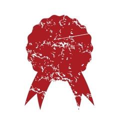 Red grunge medal logo vector image