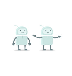 Robot spacesuit alien character luck and failure vector