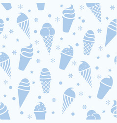 seamless icecream pattern vector image