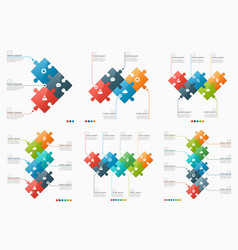 set 3-8 option infographic templates vector image
