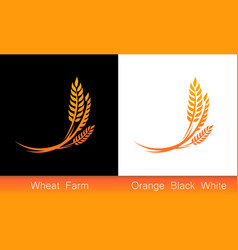 set of icons - ears of wheat vector image