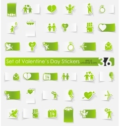 Set of Valentines Day stickers vector image