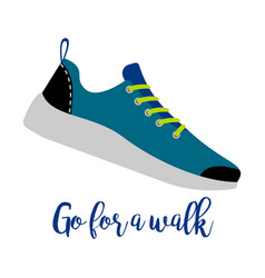 shoes with text go for walk vector image