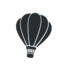 silhouette hot air balloon vector image