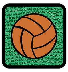 Soccer ball over grass vector image