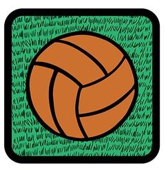 Soccer ball over grass vector image