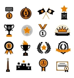 Stars And Awards Decorative Icons Set vector