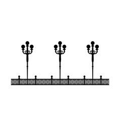 Street black promenade example for design vector