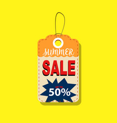 summer sale tags up to 50 design vector image