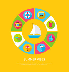 summer vibes concept vector image