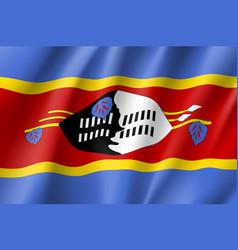Swaziland realistic flag vector