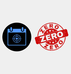 target calendar page icon and distress zero vector image