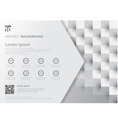 template layout white and gray geometric squares vector image