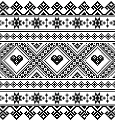Traditional Ukrainian or Belarusian folk art vector image