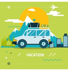 Travel Lifestyle Concept of Planning a Summer vector image