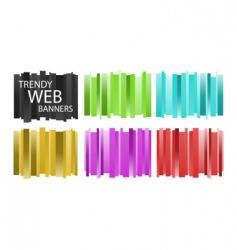 Trendy web banners vector