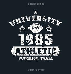 University rugby team emblem vector