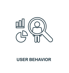 User behavior outline icon thin line style from vector