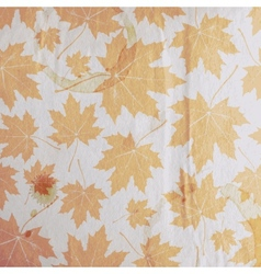 vintage floral autumn fall background with maple vector image