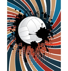 Volleyball Ball on Rays Background3 vector